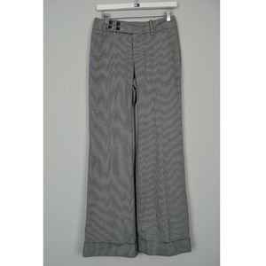 Banana Republic Wide Houndstooth Flared Dress Pant
